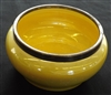 Moorcroft Yellow Lustre Bowl with William Hutton Silver Plated Rim & Ladle