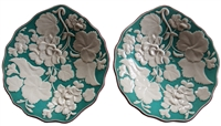 Davenport Majolica 1860 Geranium Pattern Compotes - Sold