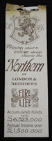 Antique trade bookmark from the Northern Insurance Company of London & Aberdeen dating from 1904