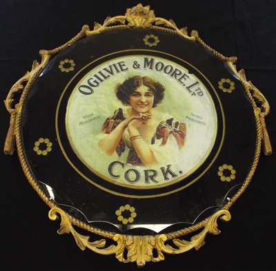 Ogilvie & Moore 1920's Advertising Mirror - Sold