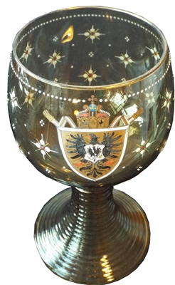 Bohemian Decorated Goblet