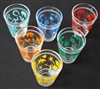 1950s/1960s Multicoloured Boxed Lucky Charm Shot Glasses - Sold