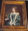18th Century Oil Painting of Lady in Blue Silk Dress