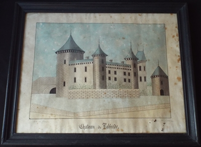 Alexis Lorent Chateau de Labrede Watercolour