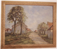 Harold H Bennett Oil on Board of Gristhorpe, Near Scarborough English Impressionist 30's
