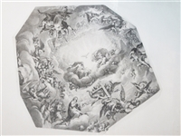 Audran After Mignard 1693 Cupola at Val De Grace Engraving
