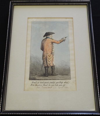 W Brown 1800 Caricature Lord (Marquis) Townshend