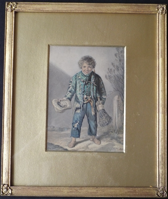 George Baxter Print 1853 'The Young Chimney Sweep' - Sold