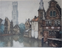 Roger Hebbelinck Signed Limited Edition Etching