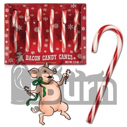 Fancy Bacon Candy Canes