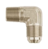 -6 AN to 1/4 NPT 90° Aeroquip Adapter Fitting Nickle