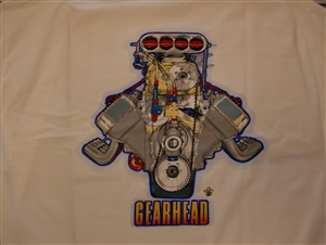 Gearhead Blown Chevy White T-Shirt