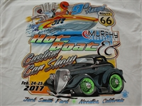 Route 66 Hot Boat & Car T-Shirt in White