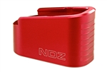 NDZ Performance Glock G42 Plus 2 P2 +2 Capacity Extension Magazine Floor Base Plate Red .380