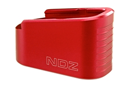 NDZ Performance Glock G43 Plus 2 P2 +2 Capacity Extension Magazine Floor Base Plate Red 9MM