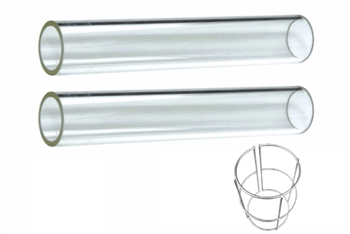 Pyramid Heater Quartz Glass Tube Replacement (2 Piece)