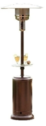 Hammered Bronze Outdoor Patio Heater with Table, HLDS01-CGT
