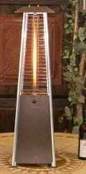 Table Top Hammer Bronze Pyramid Heater