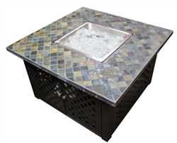 Lattice Firepit with Slate Top