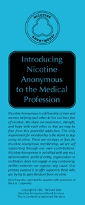 Introducing Nicotine Anonymous to the Medical Profession