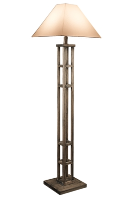 Rustic Modern Wooden Floor Lamp