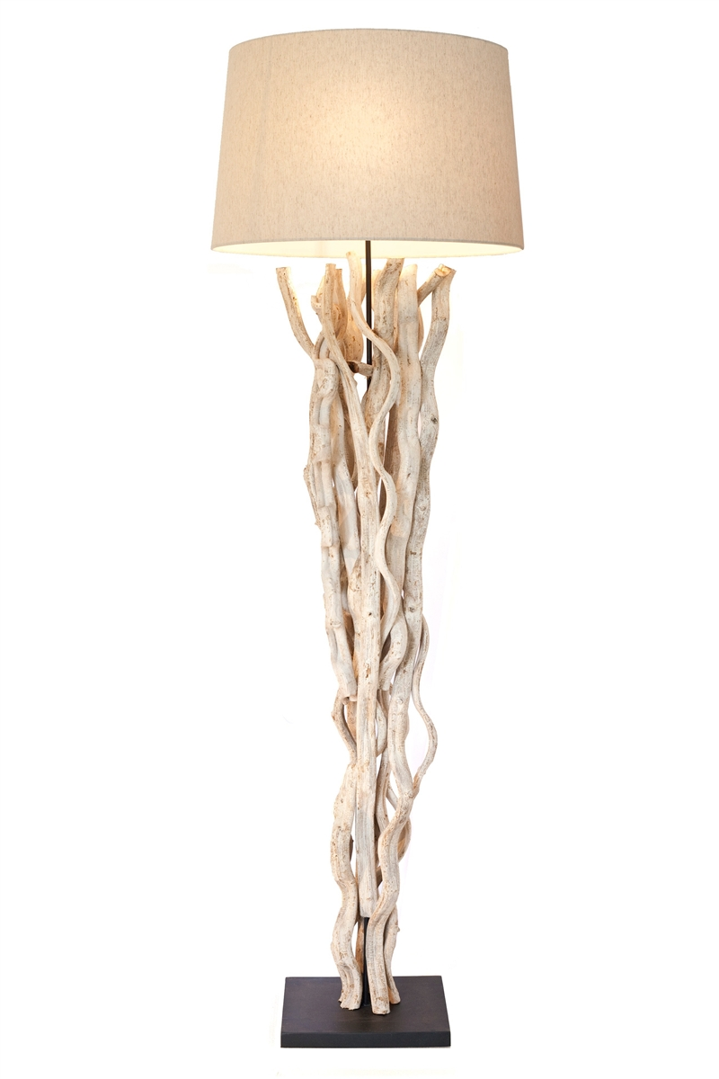 lamp floor unique lamps table for ideas lighting driftwood decorative