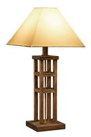 Rustic Modern Wooden Lamp