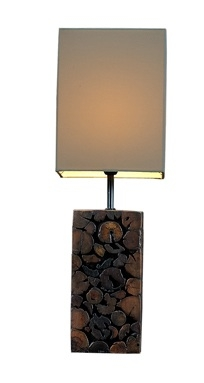 Teak Chips Mosaic Table Lamp