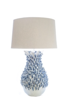 Blue Barnacle Ceramic Lamp