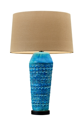 Teal Ceramic Tuscany Table Lamp
