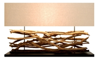 Extra large Teak sticks Lamp