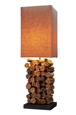 Teak Sticks Lamp