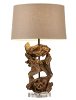 Natural Teak Table Lamp