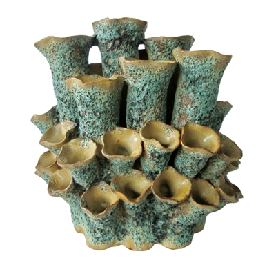 SEA FLOWERS VASE GREEN