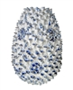 CORAL WHITE VASE W. RYAL BLUE EFFECT
