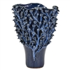 Hand Made Tree of Life Blue Vase V179