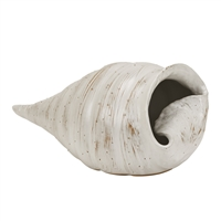 White Original Thai Ceramic Snail case Vase V182