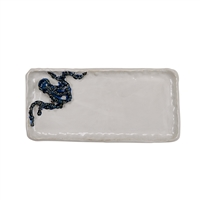 White & Blue Octopus Plate V206M