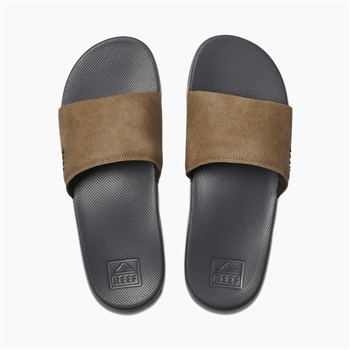 reef one slide sandal grey tan reef sandal