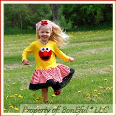 2T Yellow Elmo Twirl Dress