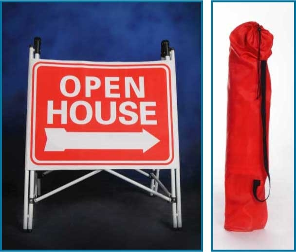 folding open house signs