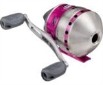Zebco 33 Pink Push-Button Reel (T4-27)
