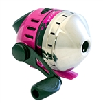 Zebco Splash Pink Push-Button Reel