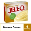 Jell-O Banana Cream Instant Pudding Mix, 5.1 oz Box