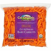 Carrots Organic Mini Peeled, 5 lb