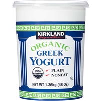Kirkland Organic Greek Nonfat Yogurt, Plain, 3 lbs