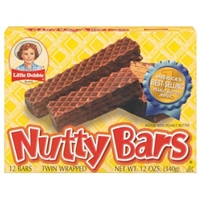 Little Debbie Wafers With Peanut Butter Nutty Bars, 12ct