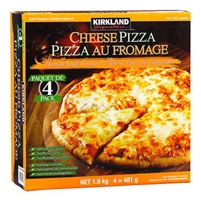 Kirkland Signature Thin Crust CHEESE Pizza, 4 ct