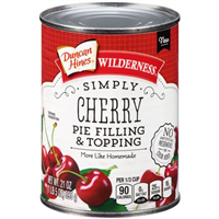 Duncan Hines Wilderness Simply Cherry Pie Filling & Topping, 21 oz