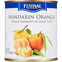 Mandarin Oranges Light Syrup 11oz. A box of 12